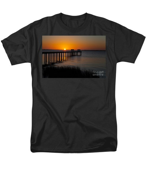 Sunset Across Currituck Sound Men's T-Shirt  (Regular Fit) by Ronald Lutz