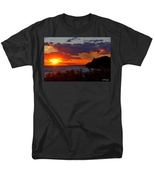 Men's T-Shirt  (Regular Fit) featuring the photograph Sunset By The Beach by Davandra Cribbie