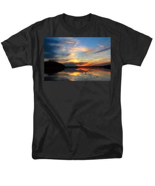 Men's T-Shirt  (Regular Fit) featuring the photograph Sunset Over Calm Lake by Daniel Reed