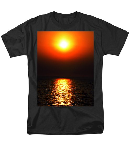 Men's T-Shirt  (Regular Fit) featuring the photograph sunset Santorini Greece by Colette V Hera  Guggenheim