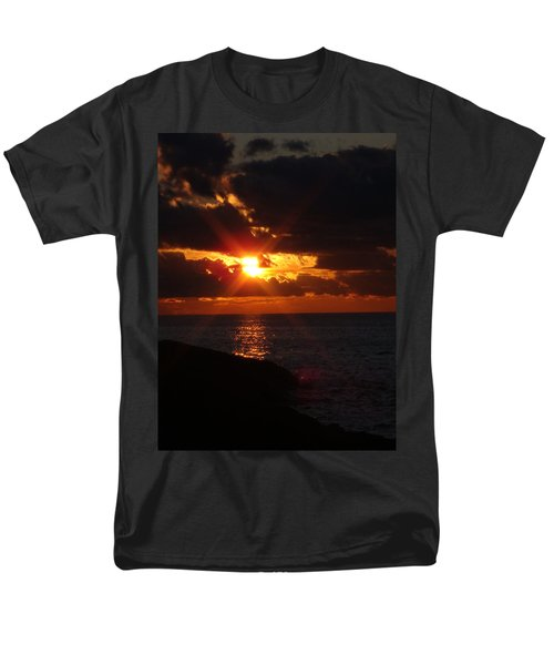Men's T-Shirt  (Regular Fit) featuring the photograph Superior Sunset by Bonfire Photography
