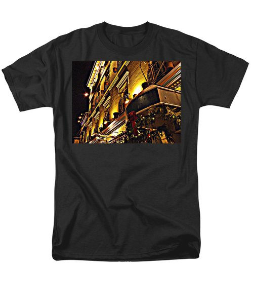 Men's T-Shirt  (Regular Fit) featuring the photograph Swans Hotel by Marilyn Wilson