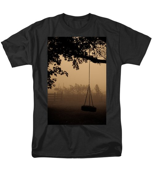 Men's T-Shirt  (Regular Fit) featuring the photograph Swing In The Fog by Cheryl Baxter