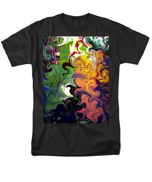 Swirled Leaves Men's T-Shirt  (Regular Fit) by Renate Nadi Wesley
