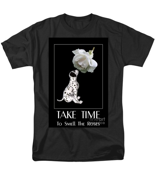 Men's T-Shirt  (Regular Fit) featuring the digital art Take Time To Smell The Roses by Smilin Eyes  Treasures