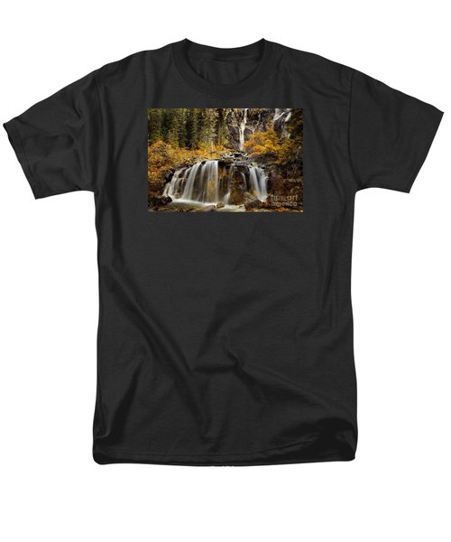 Tangle Falls, Jasper National Park Men's T-Shirt  (Regular Fit) by Keith Kapple