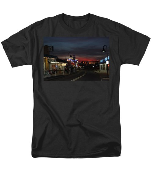 Men's T-Shirt  (Regular Fit) featuring the photograph Tarpon Springs After Sundown by Ed Gleichman