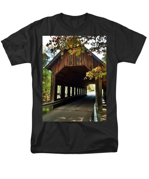 Tennesse Covered Bridge Men's T-Shirt  (Regular Fit) by Janice Spivey