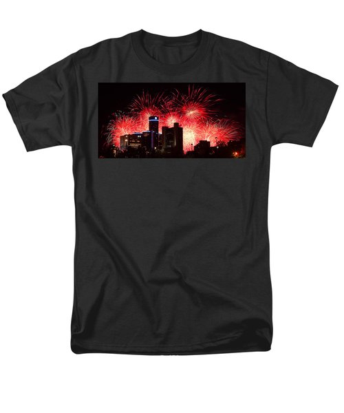 Men's T-Shirt  (Regular Fit) featuring the photograph The 54th Annual Target Fireworks In Detroit Michigan - Version 2 by Gordon Dean II