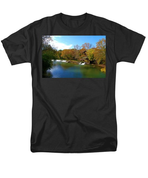Men's T-Shirt  (Regular Fit) featuring the photograph The Grist Big River by Peggy Franz