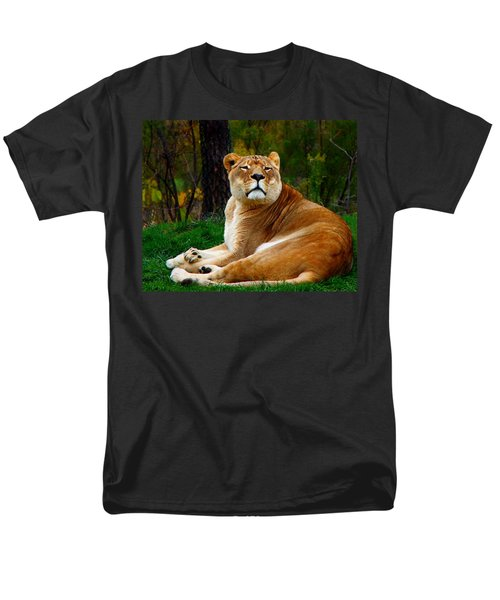 Men's T-Shirt  (Regular Fit) featuring the photograph The Lioness by Davandra Cribbie