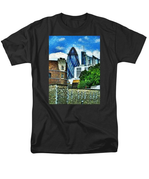 The London Gherkin  Men's T-Shirt  (Regular Fit) by Steve Taylor