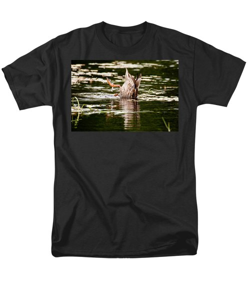 Men's T-Shirt  (Regular Fit) featuring the photograph The Meaning Of Duck by Brent L Ander
