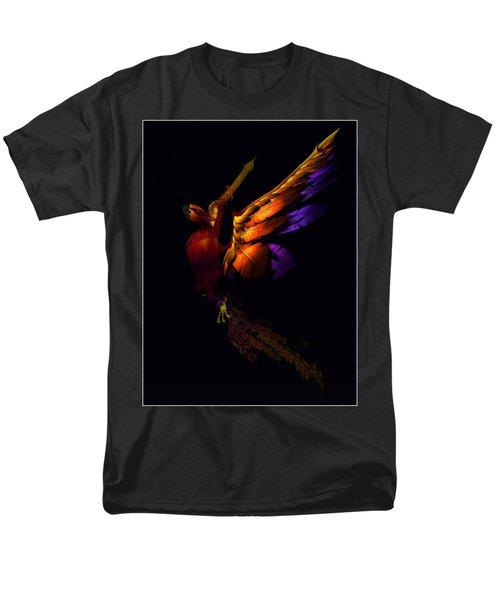 Men's T-Shirt  (Regular Fit) featuring the digital art The Phoenix Rising... by Tim Fillingim