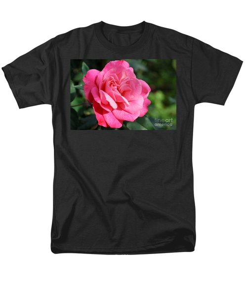 Men's T-Shirt  (Regular Fit) featuring the photograph The Pink Rose by Fotosas Photography