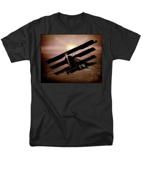 Men's T-Shirt  (Regular Fit) featuring the photograph The Red Baron's Fokker At Sunset by Chris Lord