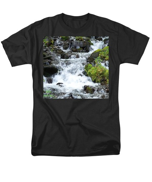 Men's T-Shirt  (Regular Fit) featuring the photograph The Roadside Stream by Chalet Roome-Rigdon