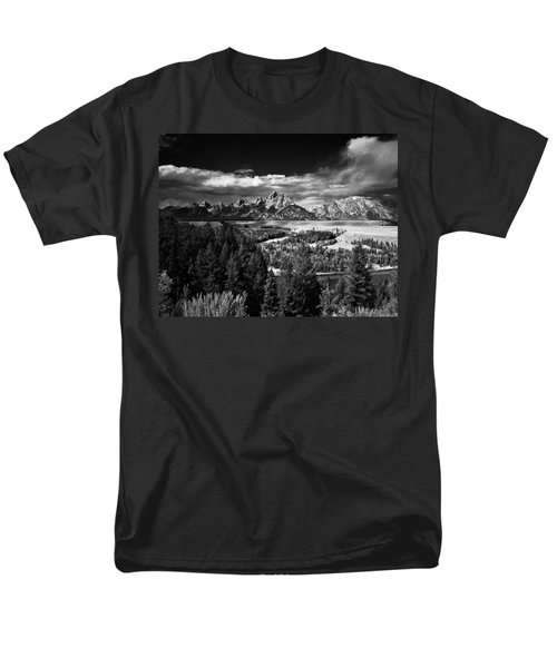 The Tetons Men's T-Shirt  (Regular Fit) by Larry Carr