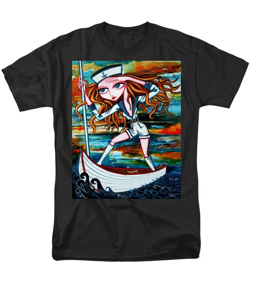 Men's T-Shirt  (Regular Fit) featuring the painting The Voyager by Leanne Wilkes
