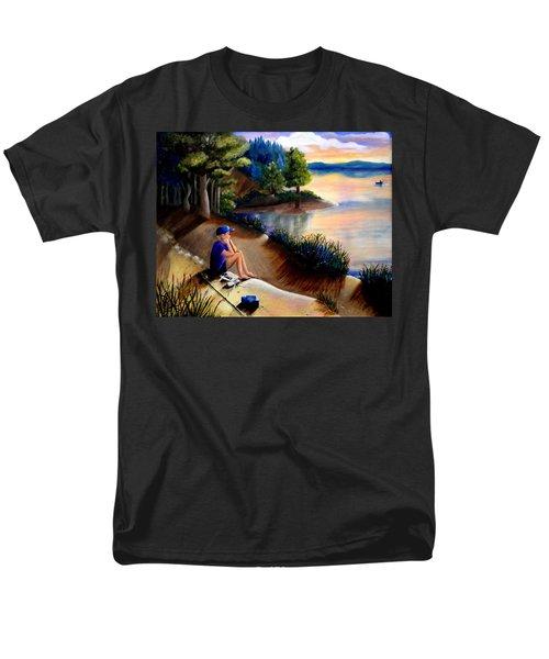 The Wish To Fish Men's T-Shirt  (Regular Fit) by Renate Nadi Wesley