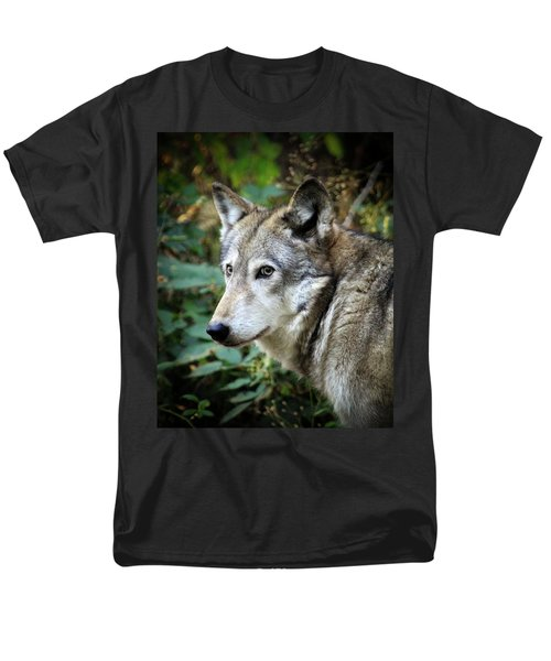 Men's T-Shirt  (Regular Fit) featuring the photograph The Wolf by Steve McKinzie