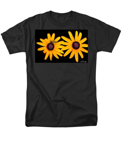 Men's T-Shirt  (Regular Fit) featuring the photograph The Yellow Rudbeckia by Davandra Cribbie