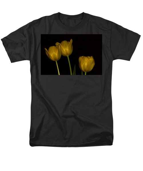 Men's T-Shirt  (Regular Fit) featuring the photograph Three Tulips by Ed Gleichman