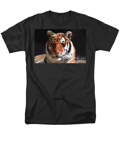 Tiger Blue Eyes Men's T-Shirt  (Regular Fit) by Rebecca Margraf