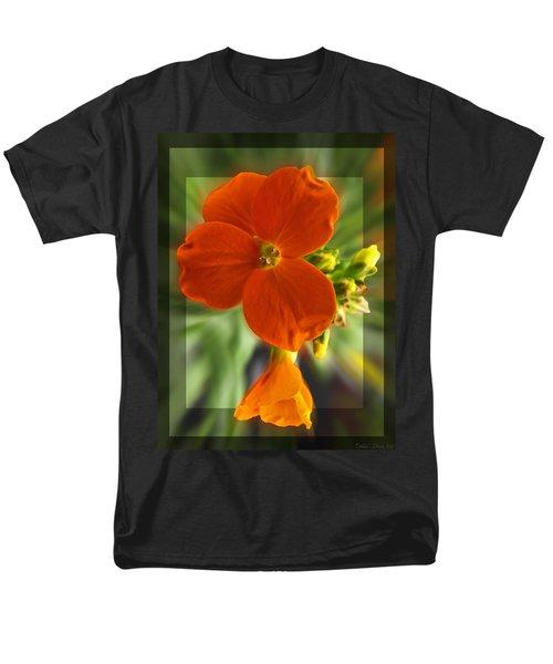 Men's T-Shirt  (Regular Fit) featuring the photograph Tiny Orange Flower by Debbie Portwood