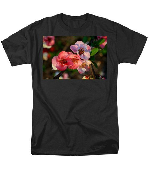 Men's T-Shirt  (Regular Fit) featuring the photograph Toyo Nishiki Quince by Kathryn Meyer