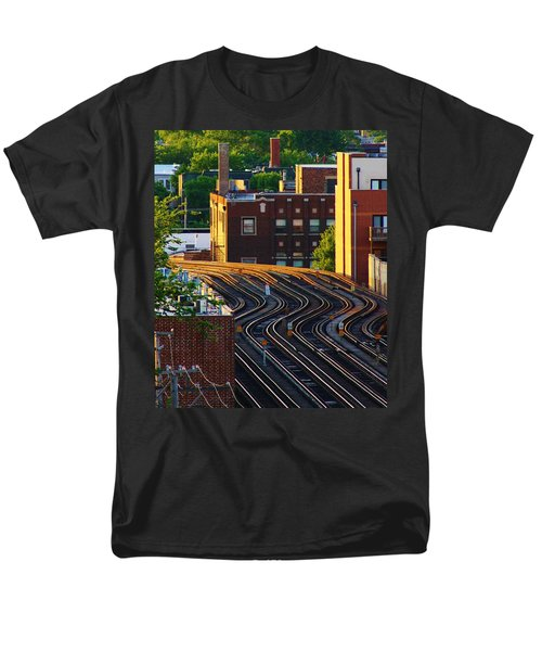 Men's T-Shirt  (Regular Fit) featuring the photograph Train Tracks by Bruce Bley