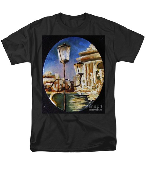 Trevi Fountain Men's T-Shirt  (Regular Fit) by Karen  Ferrand Carroll