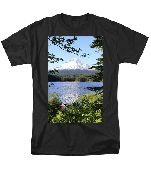 Men's T-Shirt  (Regular Fit) featuring the photograph Trillium Lake At Mt. Hood by Athena Mckinzie