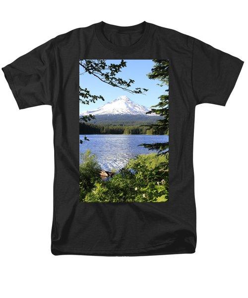 Trillium Lake At Mt. Hood Men's T-Shirt  (Regular Fit) by Athena Mckinzie