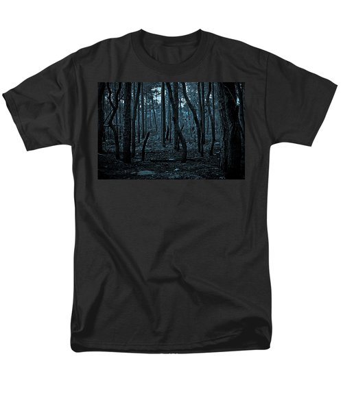 Men's T-Shirt  (Regular Fit) featuring the photograph Twilight In The Smouldering Forest by DigiArt Diaries by Vicky B Fuller