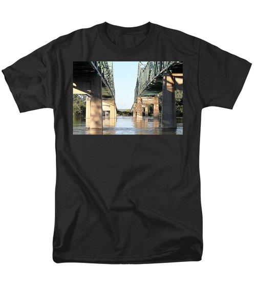 Men's T-Shirt  (Regular Fit) featuring the photograph Twin Bridges by Elizabeth Winter