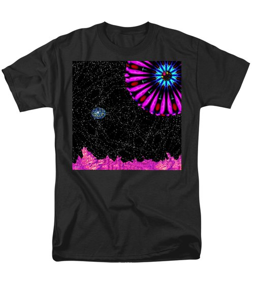 Men's T-Shirt  (Regular Fit) featuring the digital art Unexpected Visitor by Alec Drake