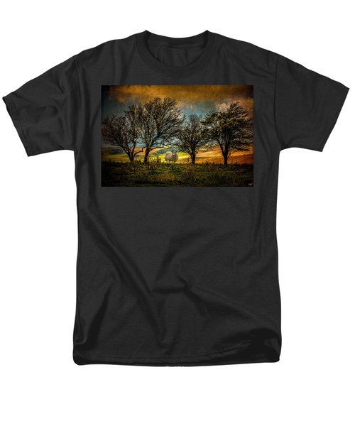 Men's T-Shirt  (Regular Fit) featuring the photograph Up On The Sussex Downs In Autumn by Chris Lord