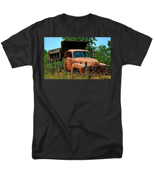 Men's T-Shirt  (Regular Fit) featuring the photograph Vintage Old Time Truck by Peggy Franz