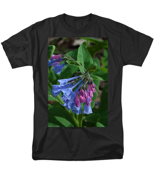 Men's T-Shirt  (Regular Fit) featuring the photograph Virginia Bluebells by Daniel Reed