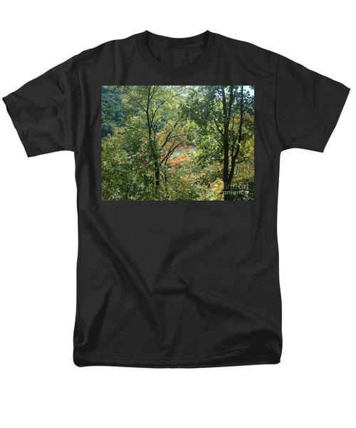 Virginia Walk In The Woods Men's T-Shirt  (Regular Fit) by Mark Robbins