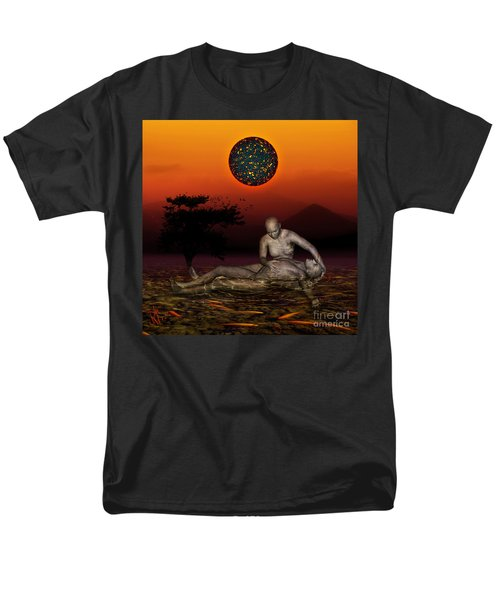 Volcanos Pieta Men's T-Shirt  (Regular Fit) by Rosa Cobos