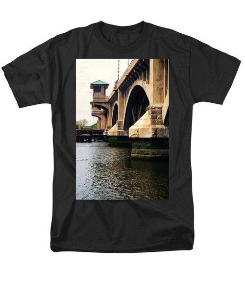 Washington Bridge Men's T-Shirt  (Regular Fit) by John Scates