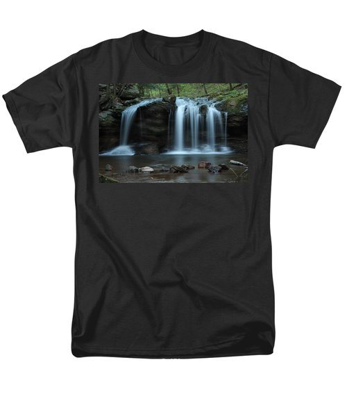Men's T-Shirt  (Regular Fit) featuring the photograph Waterfall On Flat Fork by Daniel Reed