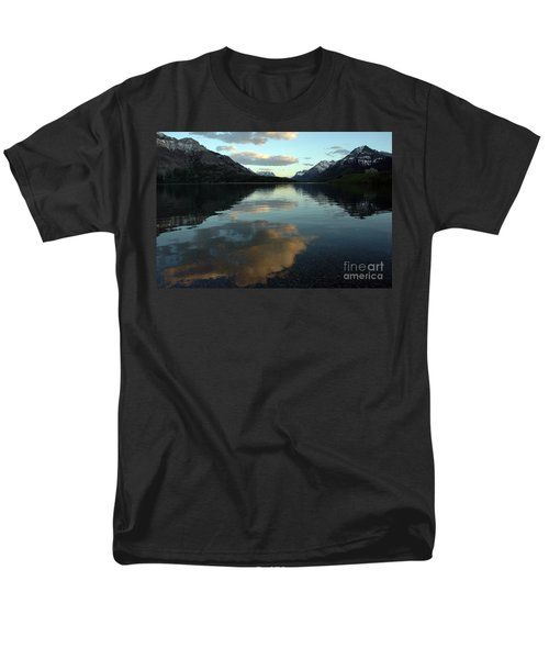 Men's T-Shirt  (Regular Fit) featuring the photograph Waterton Lake Sunset Canada by Vivian Christopher