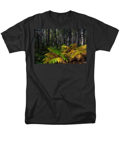 Where The Ferns Grow Men's T-Shirt  (Regular Fit) by Ronald Lutz