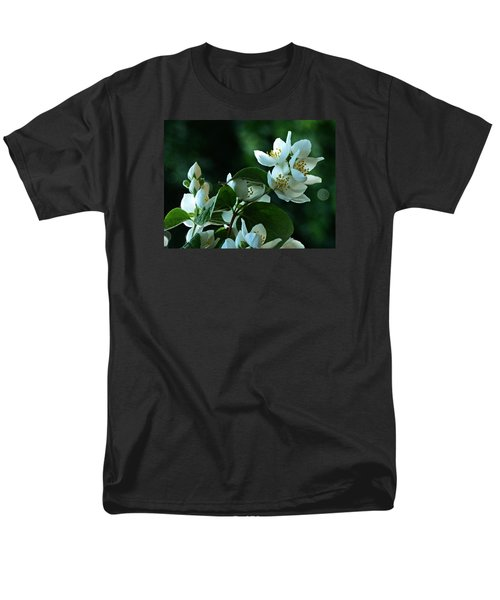 Men's T-Shirt  (Regular Fit) featuring the photograph White Buds And Blossoms by Steve Taylor