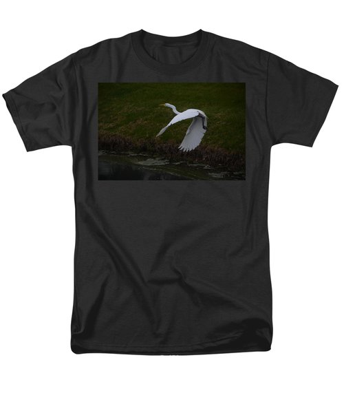 White Egret Men's T-Shirt  (Regular Fit) by Randy J Heath