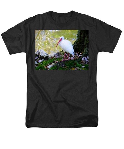 White Ibis Men's T-Shirt  (Regular Fit) by Judy Wanamaker