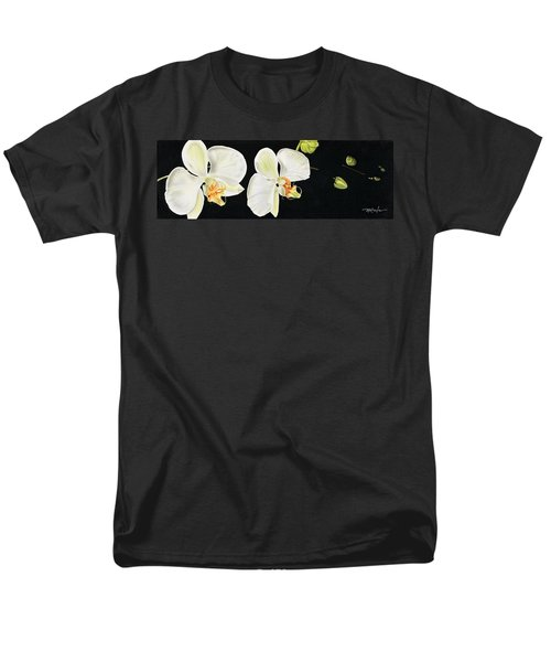 White Orchids Men's T-Shirt  (Regular Fit)